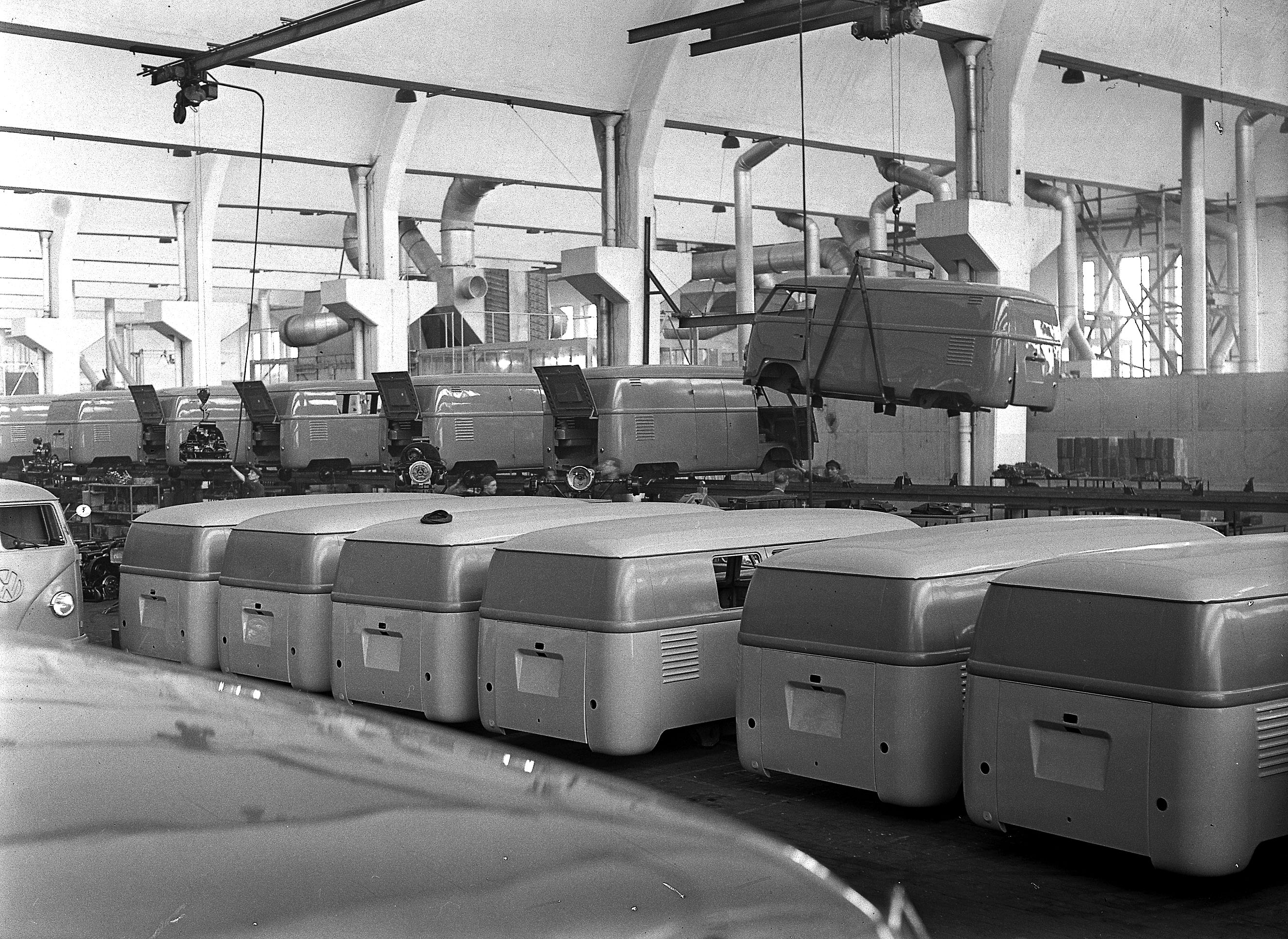 Transporter Production At Wolfsburg 1950's