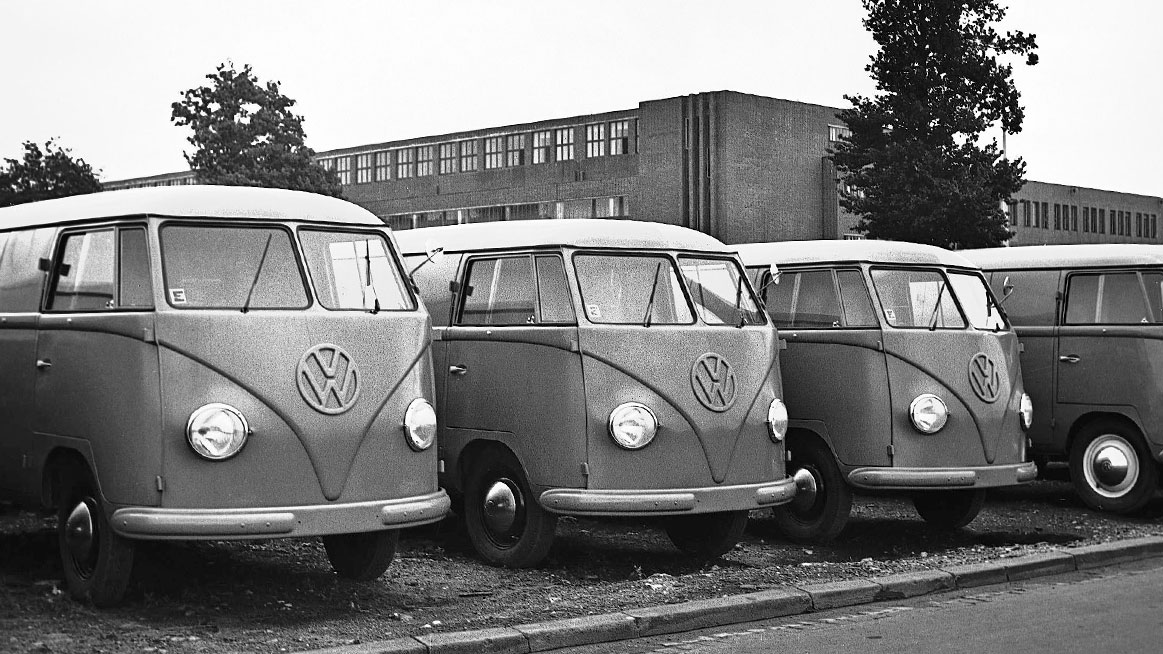 Transporters outside factory